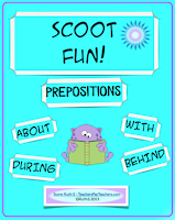 photo of Scoot Fun, games, PDF, Teacher Park, ELA