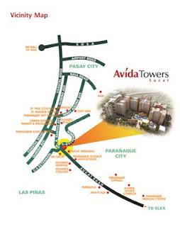 Avida Towers Sucat Location Map