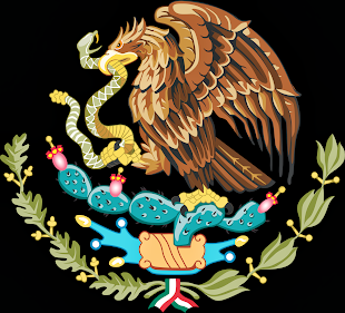 EAGLE AND SNAKE MEXICAN FLAG EMBLEM