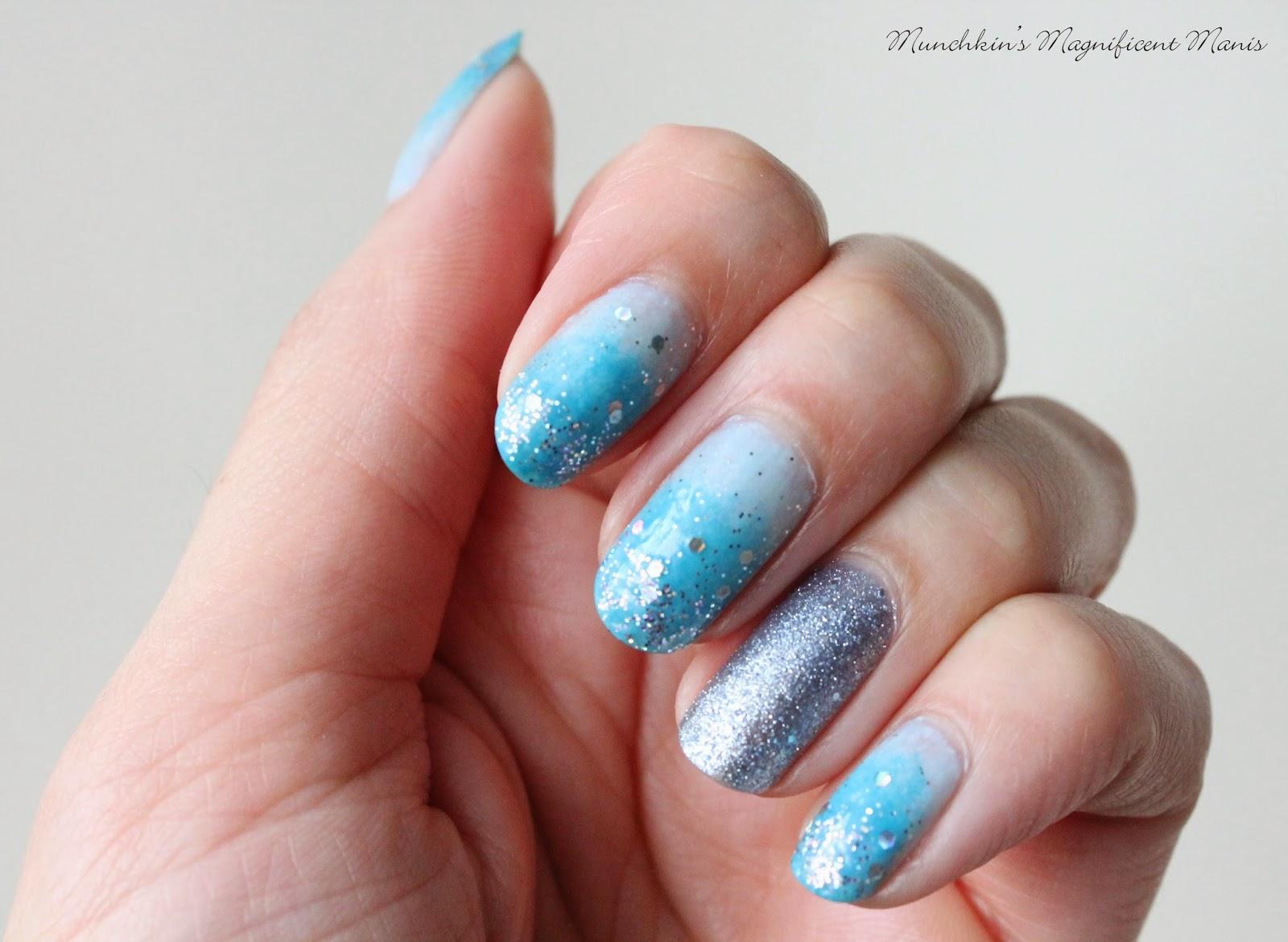 glitter gradient nail design