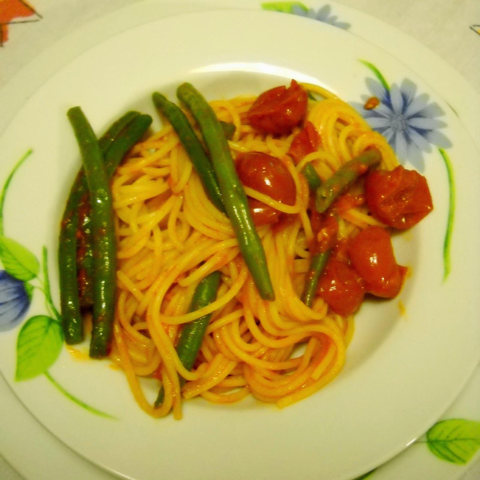 pasta coi fagiolini (pasta e teghe)