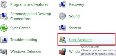 User Acounts