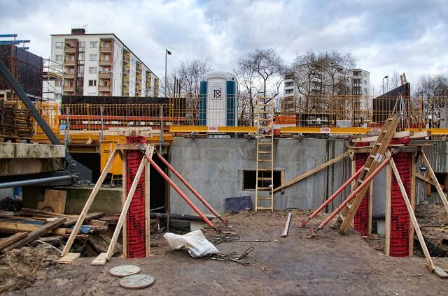 Baustelle Erweiterung AUFBAU HAUS, Planet Modulor, Moritzplatz, Oranienstraße, 10969 Berlin, 08.01.2014