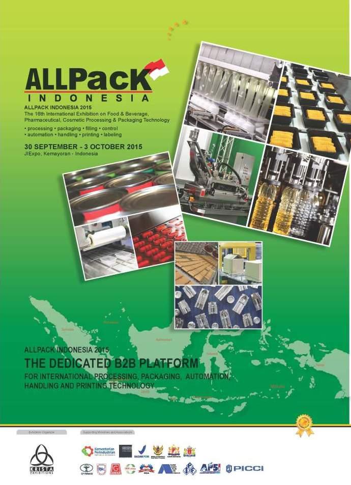 Pameran Allpack Indonesia 2015, Pameran Teknologi Pengolahan & Kemasan