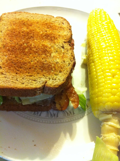 BLT and corn on the cob
