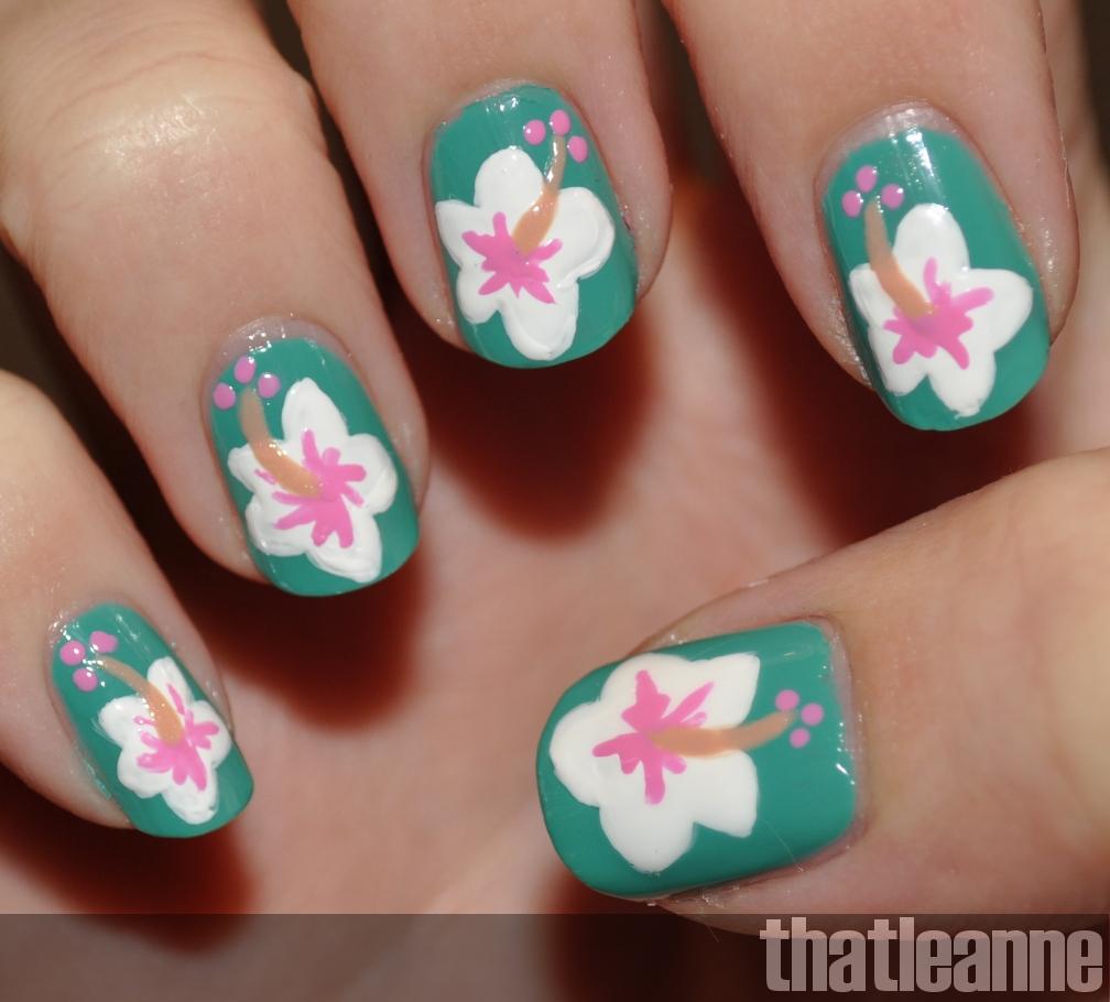 Thatleanne Mac Surf Baby Nail Polish Swatches Hibiscus Nail Art