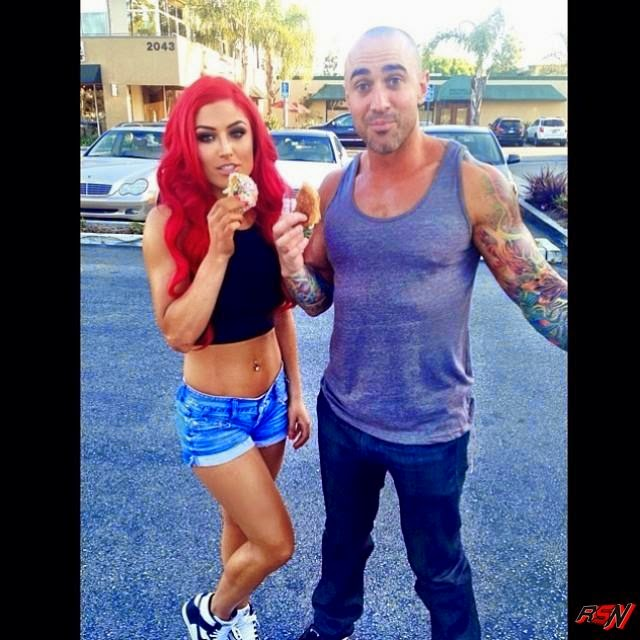 Eva Marie Hangs With Her Man.