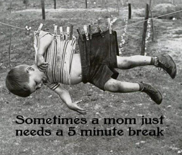cute, mum needs break