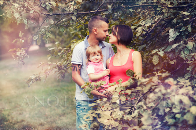 фотосессия на природе всей семьей
