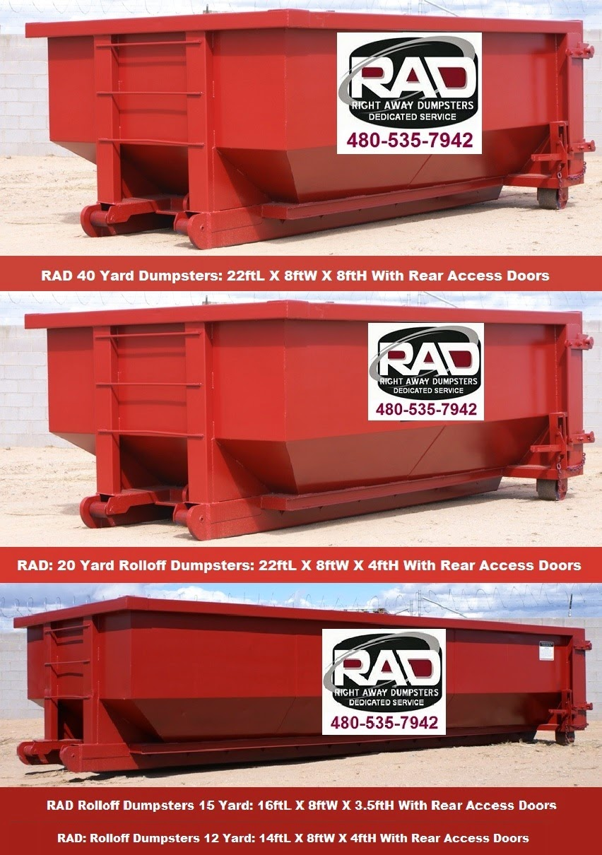 Mesa AZ Rolloff Dumpsters For Rent RAD