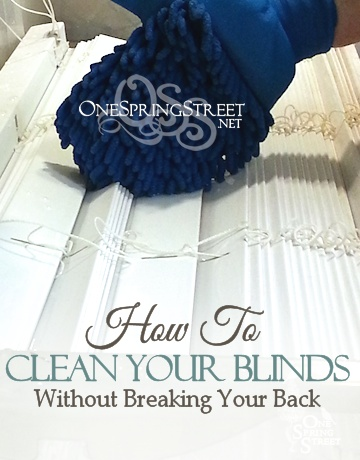 onespringstreet how to clean blinds easily faux wood. Black Bedroom Furniture Sets. Home Design Ideas