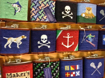 Smathers & Branson needlepoint flasks