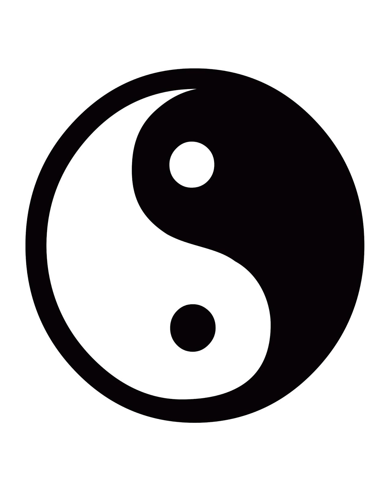 Cjo Photo Printable Black And White Art 8x10 Yin Yang Sign