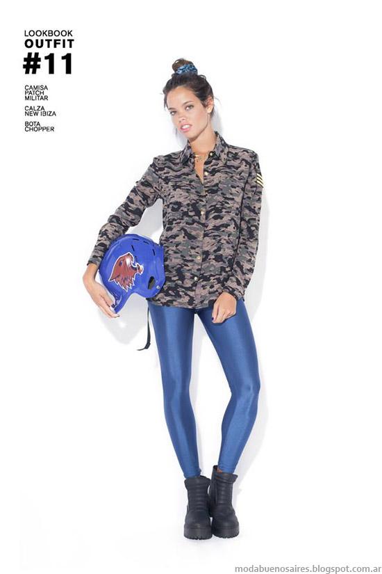 Camisas de mujer camufladas moda invierno 2014 47 Street.