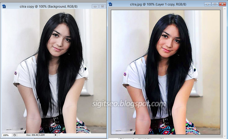 Efek Kilat Photoshop Mempertajam Warna Foto