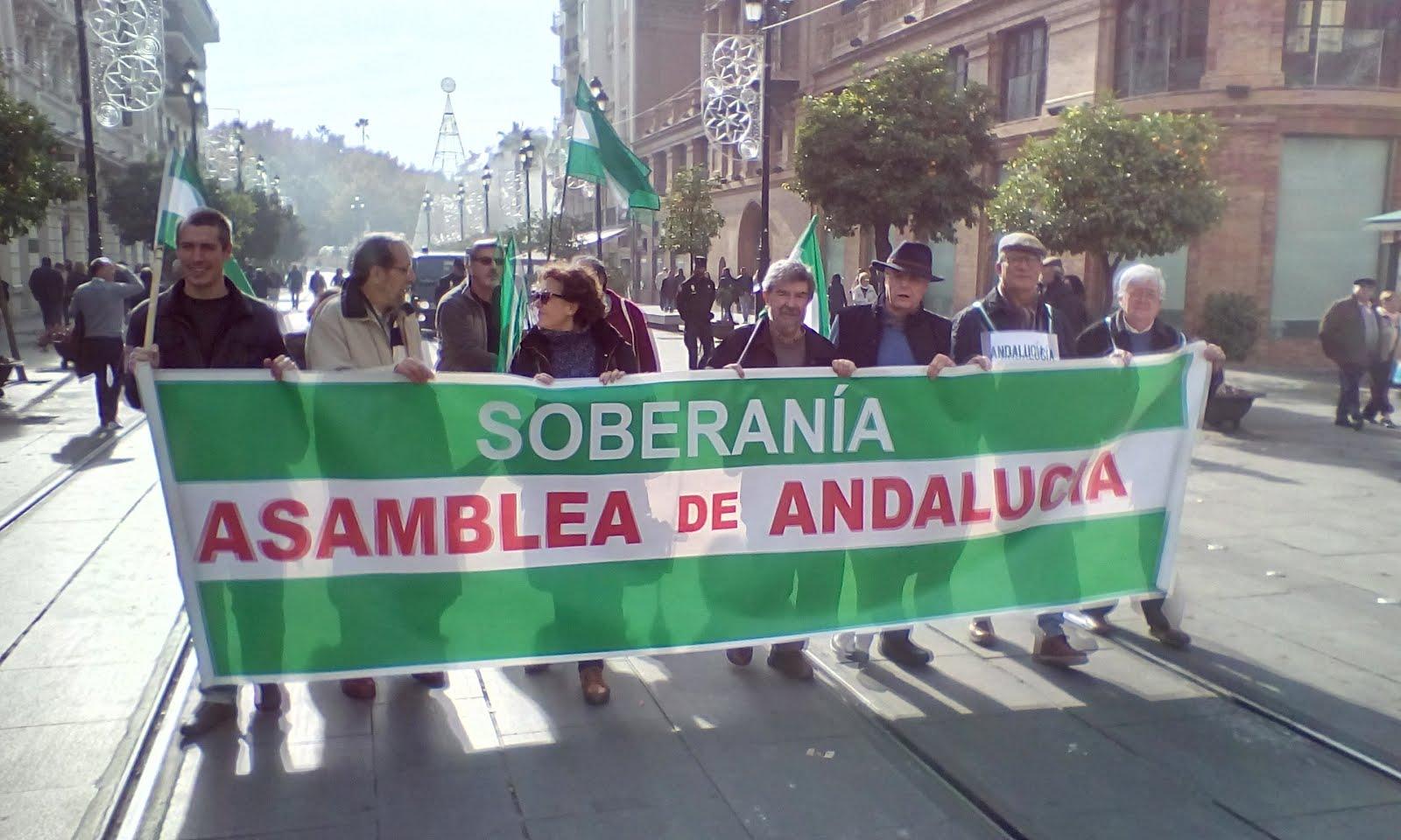 Asamblea de Andalucía en la Manifestación 10D Sevilla. Día de los Derechos Humanos.