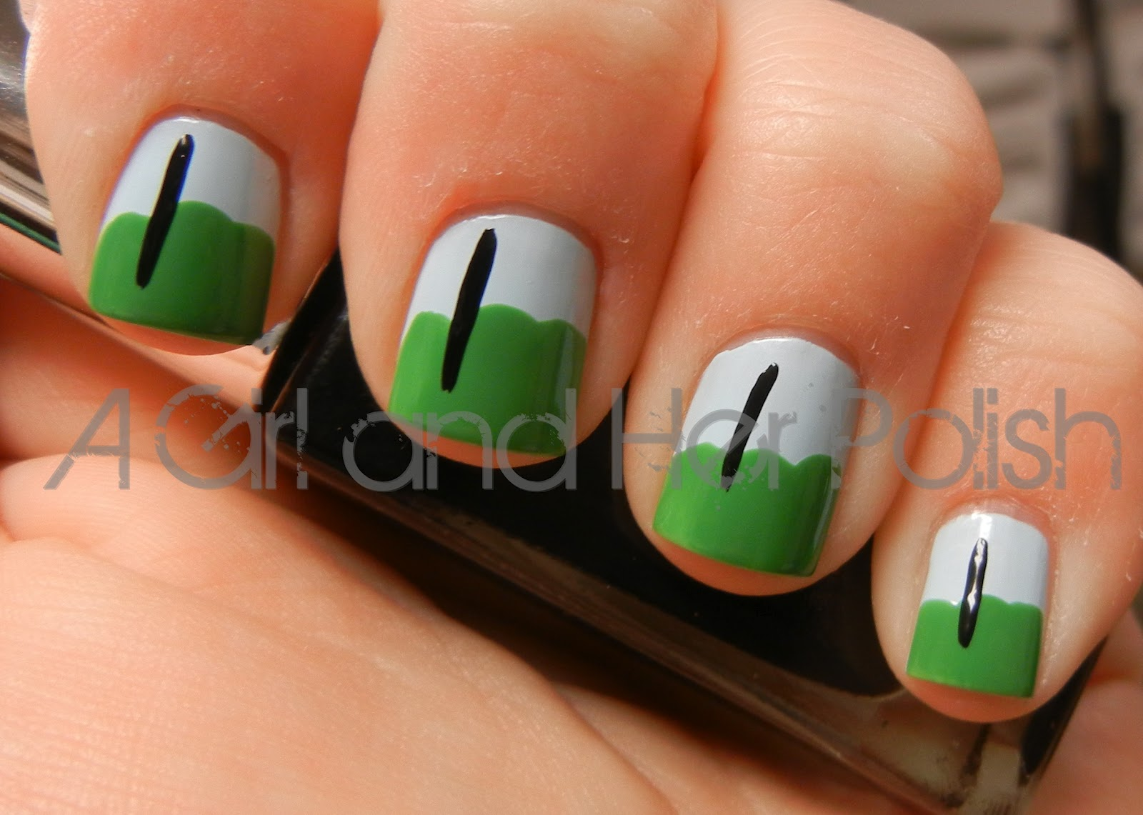 I Added My Flag Poles Using Sinful Colors Nail Art In Time Off