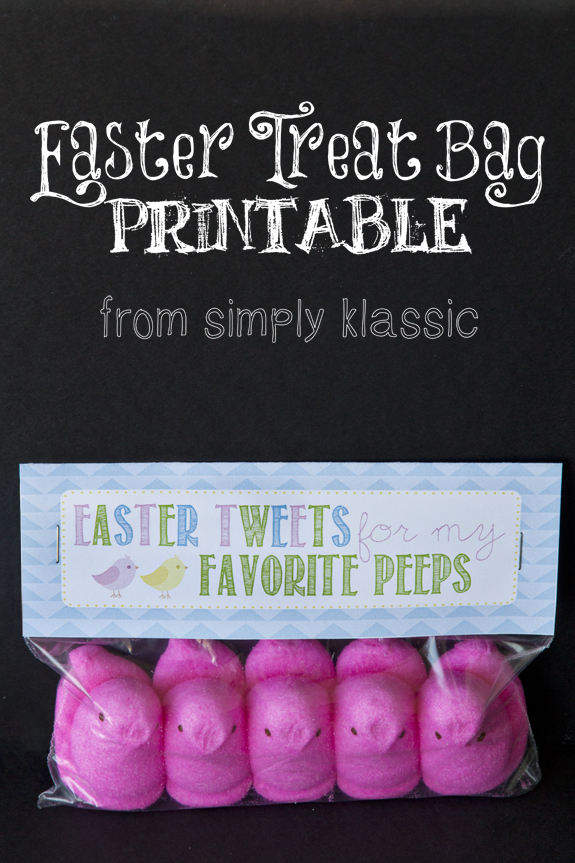 """Easter Tweets for My Favorite Peeps"" Gift Idea with Free Printable Tag"