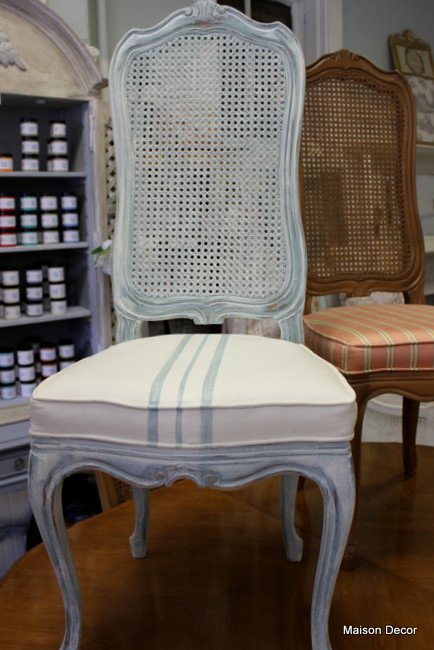 Painting Fabric Chairs with Paint