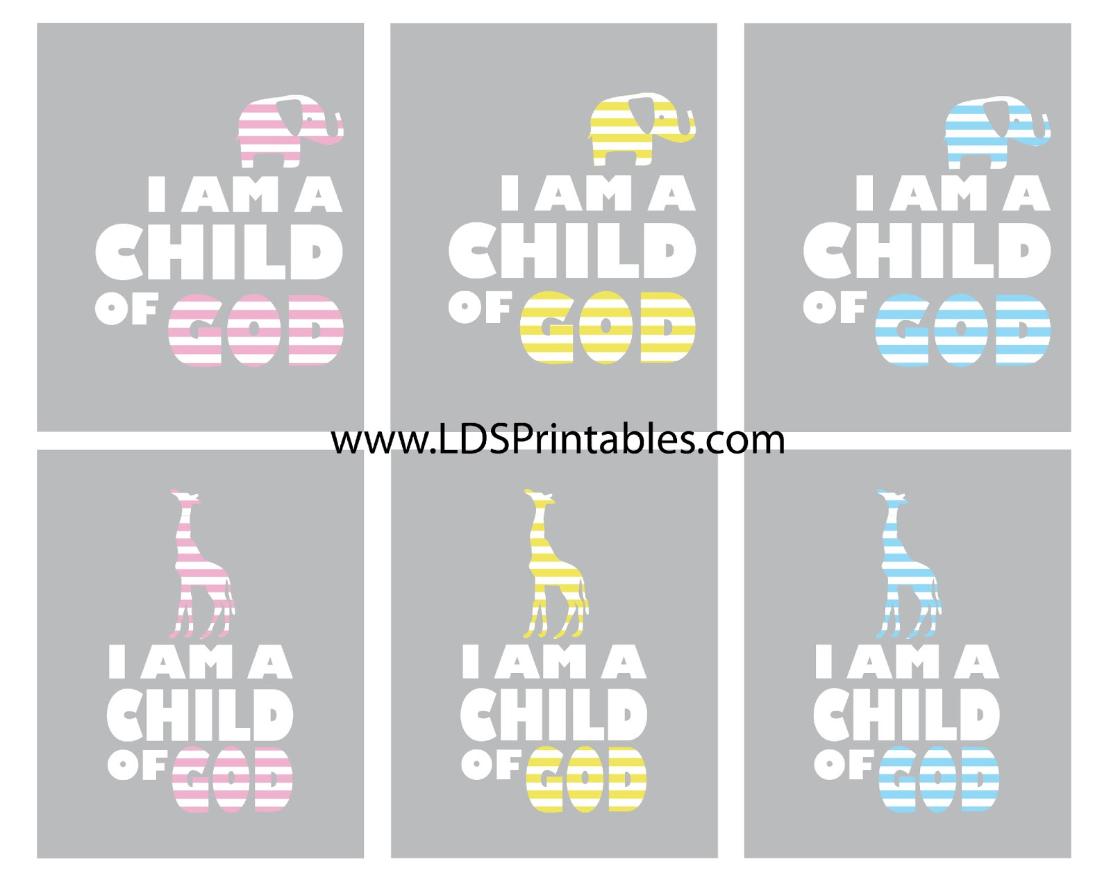 lds printables i am a child of god