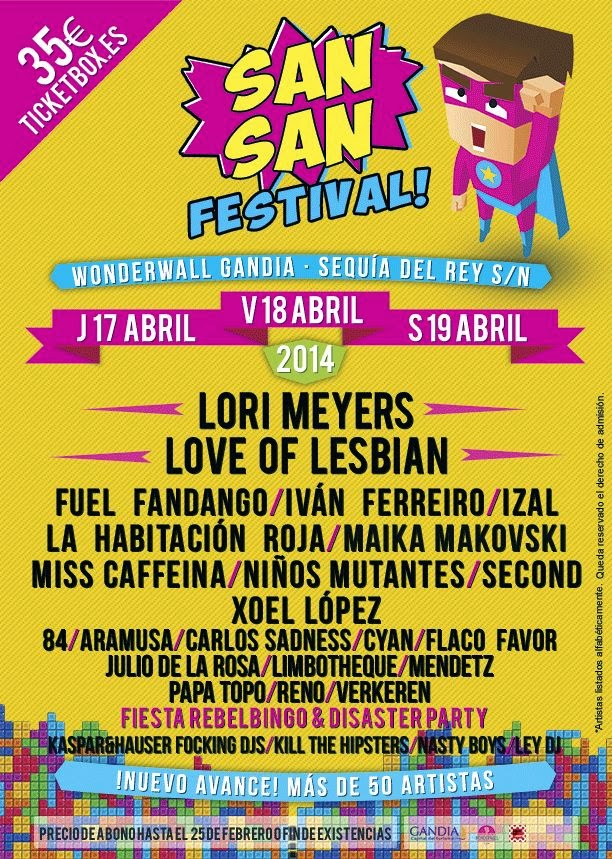 SanSan Festival 2014 Gandia Valencia
