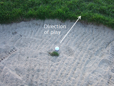 Grounding your club in a bunker