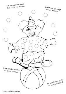 comptine ilustrée clown