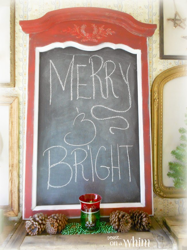 Festive Red Chalkboard from Denise on a Whim