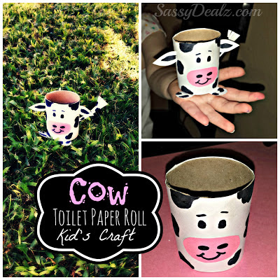 cow toilet paper roll craft