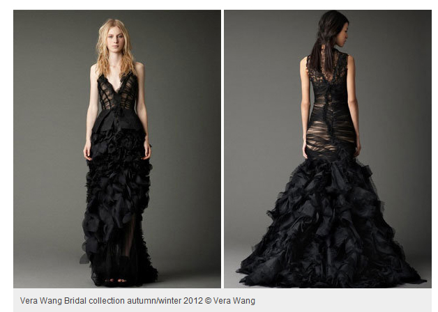 Vera Wang Black Wedding Dress Mayojay Fashion And Textiles