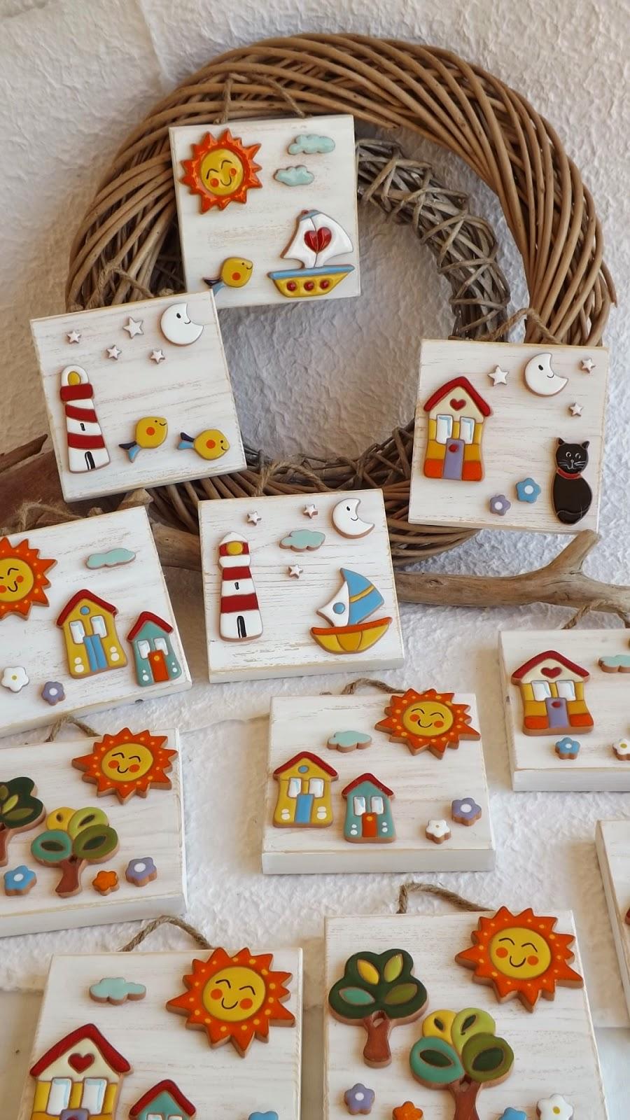 Ceramica come mestiere allegri colorati ed originali - Mattonelle in ceramica decorate ...