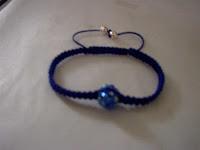 pulseras de hilo azul