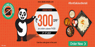 FoodPanda Rs. 300 off on Rs. 450 Coupon Code