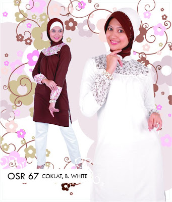 Katalog Fashion Osmoes Pakaian Wanita Muslim Coklat Broken White