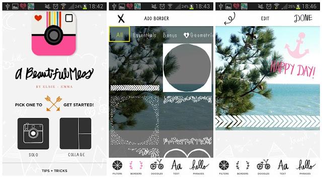 Android : mes applications photos préférées : A beautiful mess