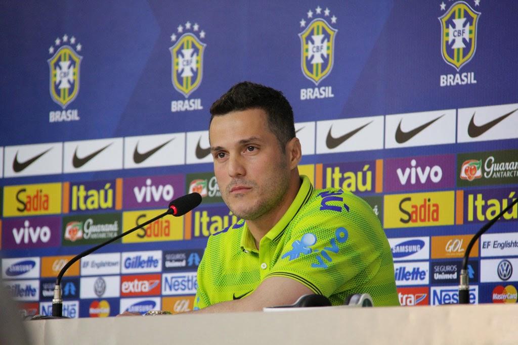 Júlio Cesar, favorito para ocupar a vaga de titular no gol do Brasil