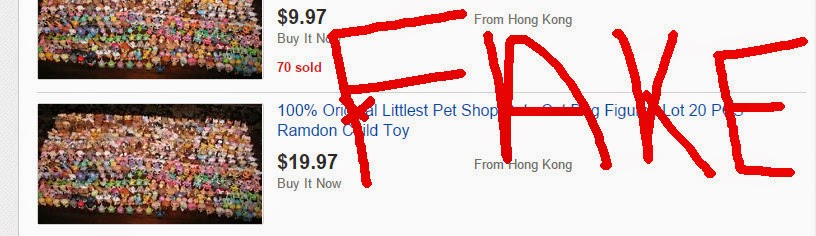 Fake Littlest Pet Shop on eBay