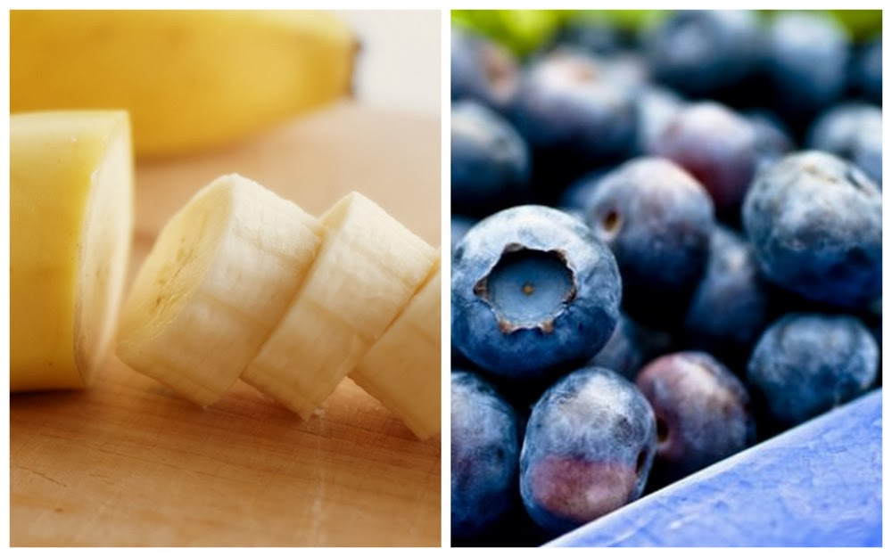 bananas & blueberries