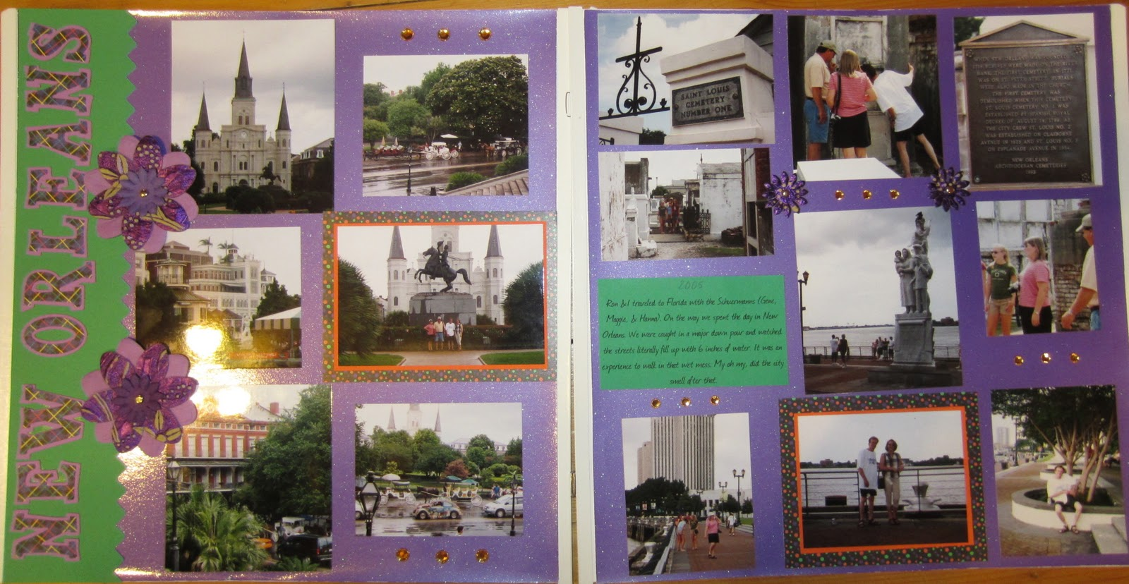 Juliet scrapbook ideas - Another Family Trip This One To New Orleans In 2010 The Perfect Place For The Zimmermann S