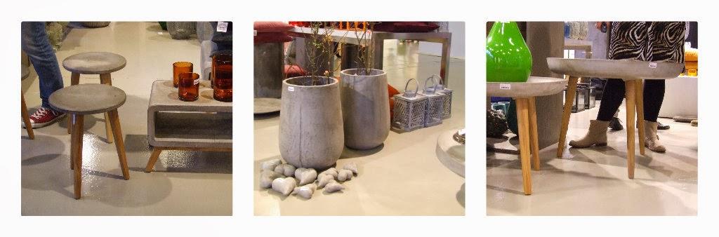trends 2014, beton, møbler i beton, vase i beton, beton og træ, io scandinavia, taburat, lille bord, sidebord,lille stol