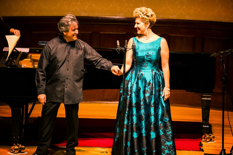 Joyce DiDonato and Sir Antonio Pappano at the Wigmore Hall - photo credit Simon Jay Price