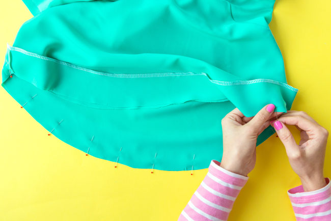 Finishing a hem with a facing - Tilly and the Buttons