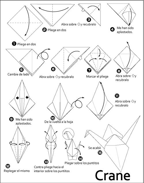 Origami paso a paso grulla - Imagui