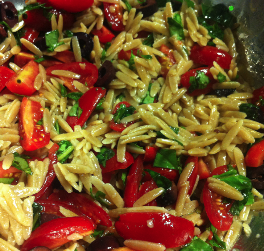 WELCOME: Orzo and Olive Salad