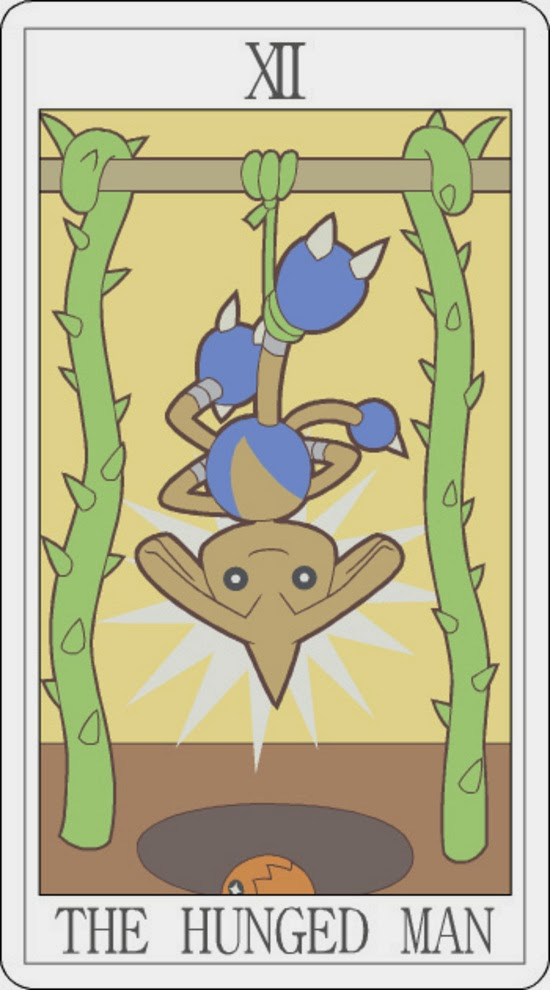 Pokemon Tarot - The Hunged Man