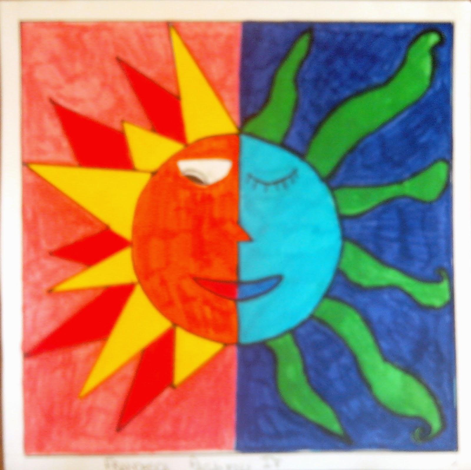 Get smart make art un blog di arte a scuola della prof for Disegni a colori caldi