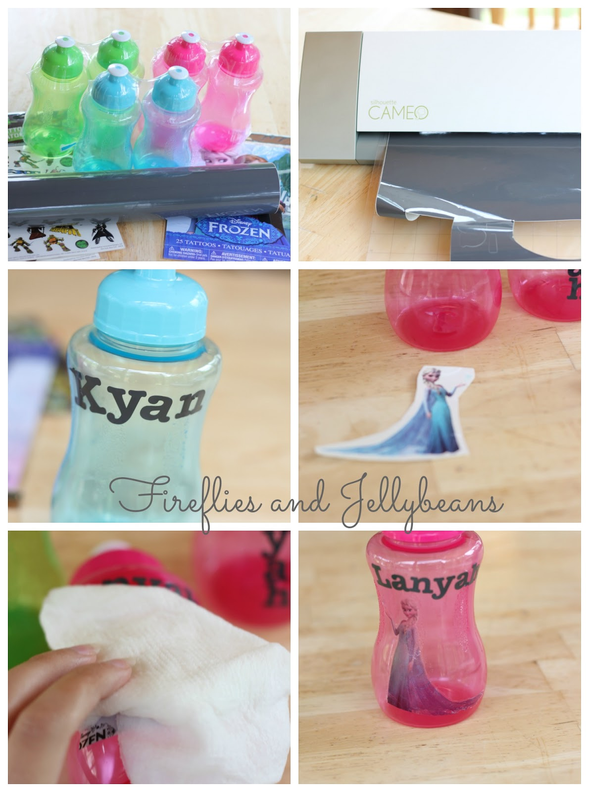 Diy Water Bottle Fireflies And Jellybeans Easy Diy Personalized Water Bottles