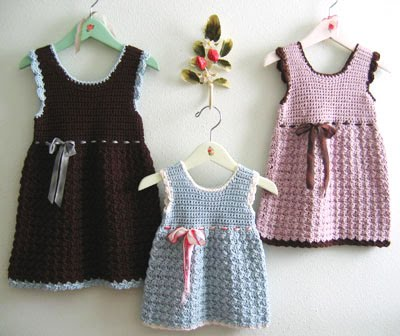 Cute Knitting Baby Dress Patterns