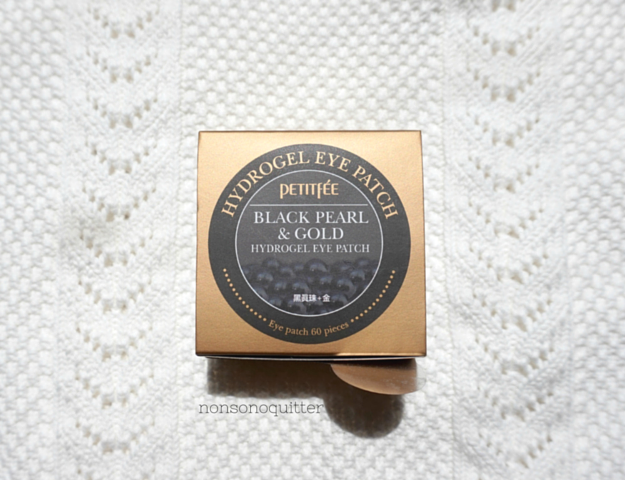 Petitfee Black Pearl and Gold Hydrogel Eye Patch review. How to get rid of under eye bags. How to get rid of puffy under eye area.