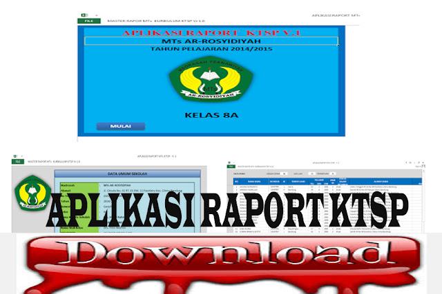 Download Aplikasi Raport KTSP Untuk MTs